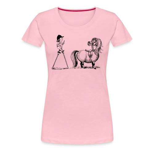 Thelwell Aufstiegshilfe mit Stelzen - Frauen Premium T-Shirt