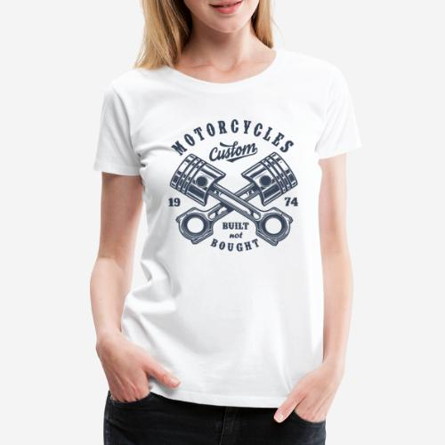 Motorrad benutzerdefinierte Vintage Biker - Frauen Premium T-Shirt