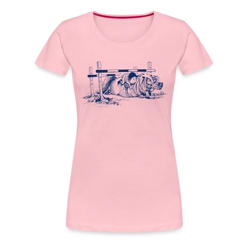 Thelwell Pony versteckt sich unter dem Sprung - Frauen Premium T-Shirt