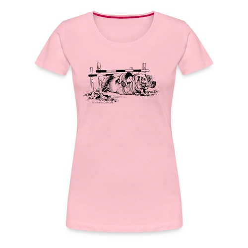 Thelwell Cartoon Pony Sturz - Frauen Premium T-Shirt