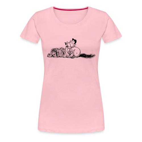 Thelwell Pony und Reiter schlafen - Frauen Premium T-Shirt