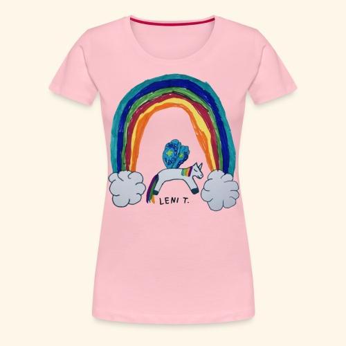 LeniT For Unicorns Only - Naisten premium t-paita