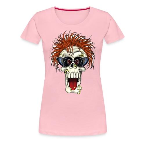 Calavera metalera - Camiseta premium mujer