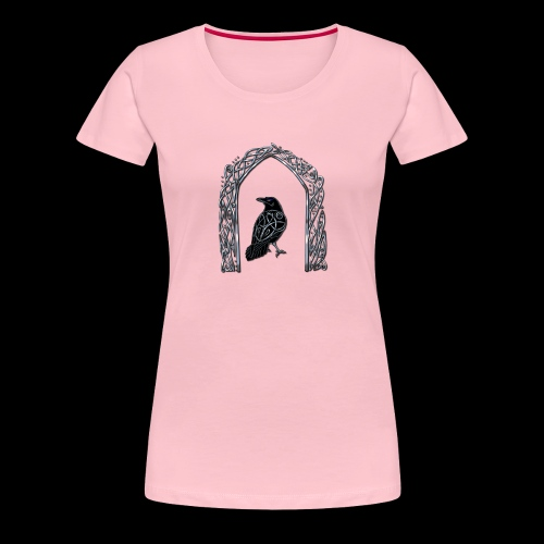 Celtic Raven - Women's Premium T-Shirt