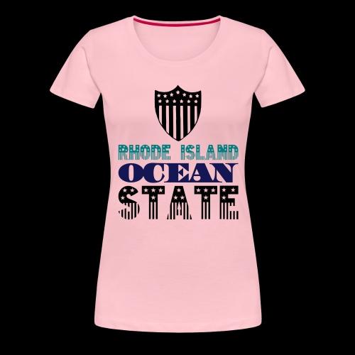 rhode island ocean state - Women's Premium T-Shirt