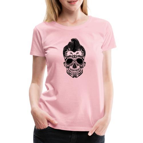 Totenkopf Elvis - Frauen Premium T-Shirt
