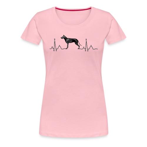 ECG met hond - Vrouwen Premium T-shirt