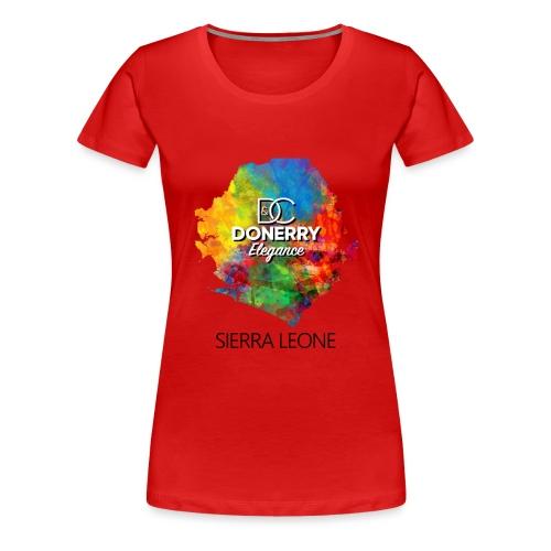 Sierra Leone Colurful Map - Women's Premium T-Shirt
