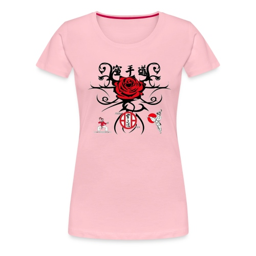 Rose rouge1 gif - T-shirt Premium Femme
