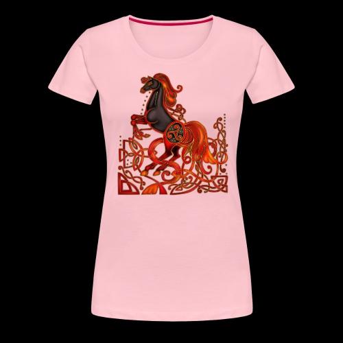 Celtic Horse Night Mare - Women's Premium T-Shirt
