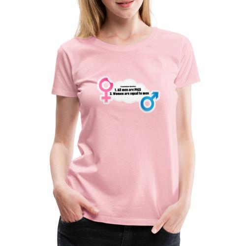All men are pigs! Feminism Quotes - Women's Premium T-Shirt