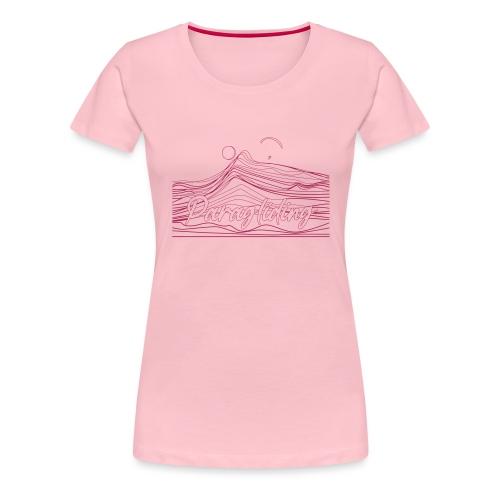 Paragling Lineart Gleitschirn - Frauen Premium T-Shirt