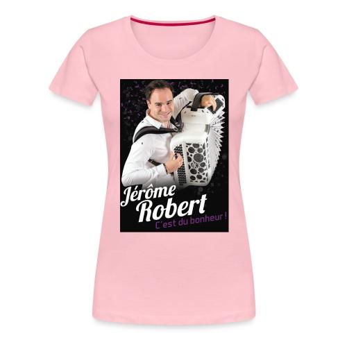 TSHIRT JEROME ROBERT NOIR jpg - T-shirt Premium Femme