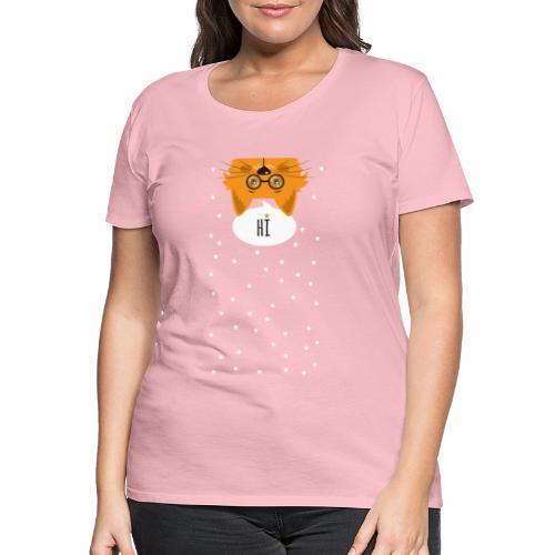 Katze sagt: HI - Frauen Premium T-Shirt
