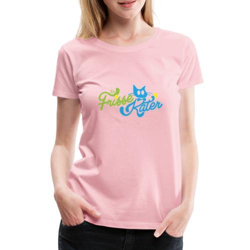 Frisse Kater Logo Kleur - Vrouwen Premium T-shirt
