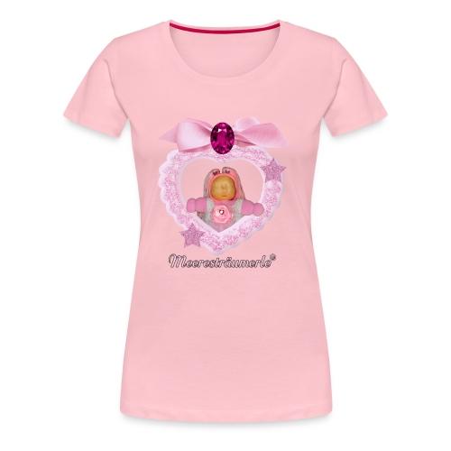 Meerestraeumerle Prinzessin in rosa Herz - Frauen Premium T-Shirt