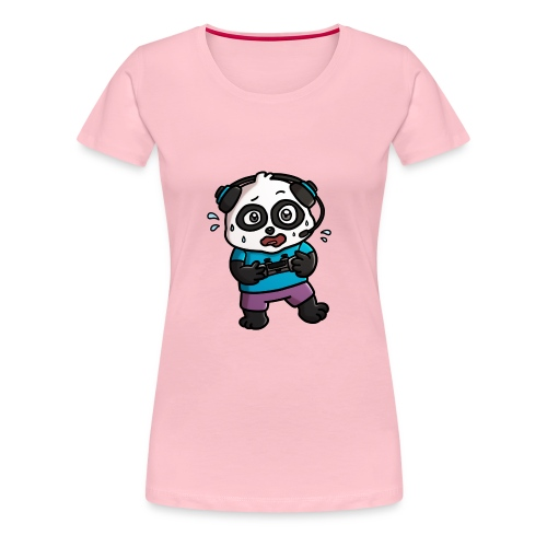 Noob Gamer Panda - Women's Premium T-Shirt