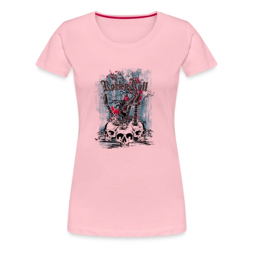 rock n roll skulls - Vrouwen Premium T-shirt