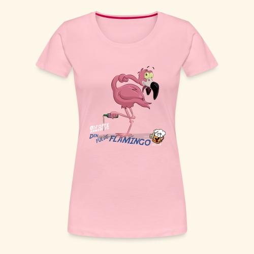 Den fulde flamingo - Dame premium T-shirt