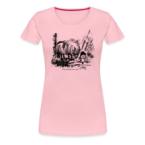 Thelwell Cartoon Pony Missgeschick - Frauen Premium T-Shirt