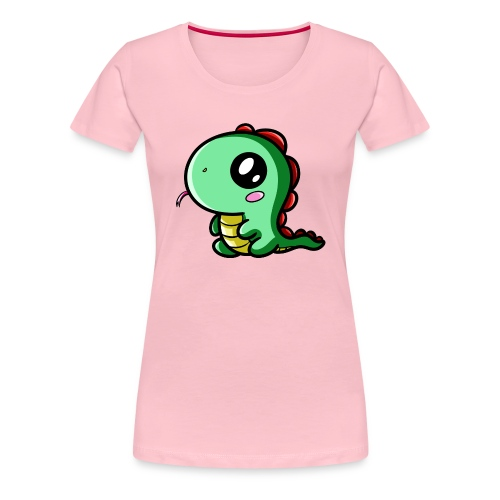 Dinosaure Kawaii - T-shirt Premium Femme