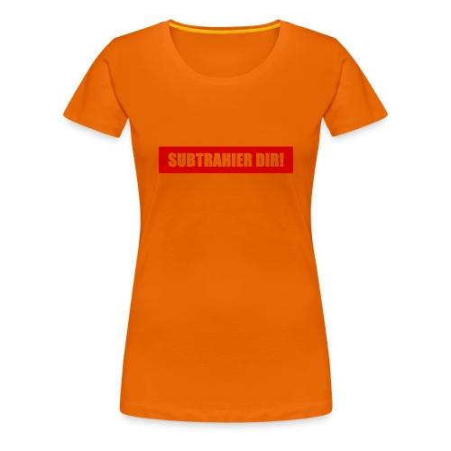 subtrahier dir - Frauen Premium T-Shirt
