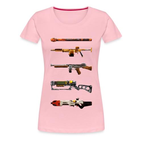 Pixel Weapon Progress - Women's Premium T-Shirt