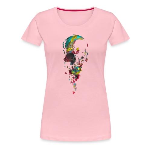 Calavera abstracta - Camiseta premium mujer