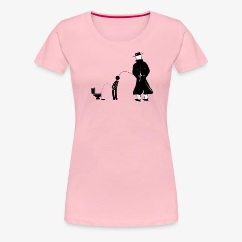 "Pissing Man against ""I can not piss properly guy"" - Frauen Premium T-Shirt"