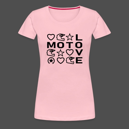 MOTOLOVE 9ML01 - Women's Premium T-Shirt