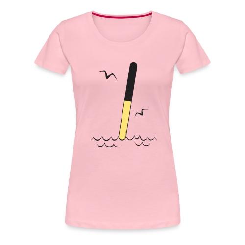POHJOISVIITTA Merimerkit, tekstiilit ja lahjat - Naisten premium t-paita