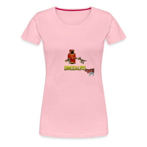 Minecraft Dinosaurs T-shirt - Vrouwen Premium T-shirt