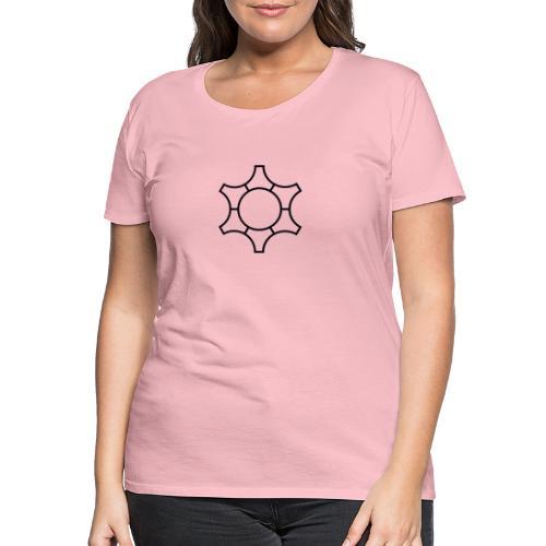 Zahnrad, Abstrakt - Schwarz - Frauen Premium T-Shirt