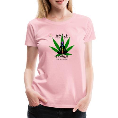 Yoga Ganja - T-shirt Premium Femme