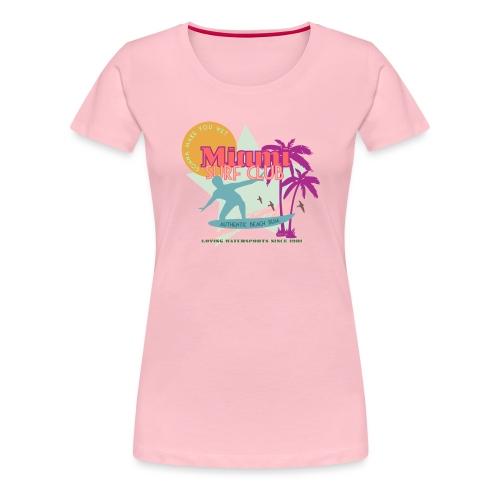 Miami Surf Club - Women's Premium T-Shirt
