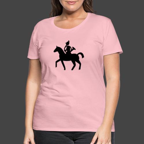 Parforcehornbläserin zu Pferd-Shirt für Jägerinnen - Frauen Premium T-Shirt