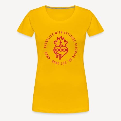 CATHOLICS WITH ATTITUDE CLOTHING CO. - Women's Premium T-Shirt