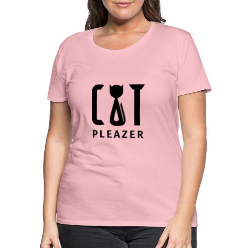 Cat Pleazer Schwarz - Frauen Premium T-Shirt