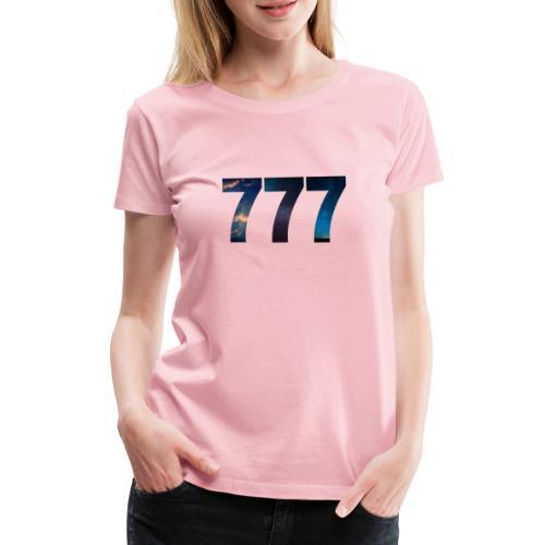 777 un nombre qui apporte chance et spiritualité - T-shirt Premium Femme