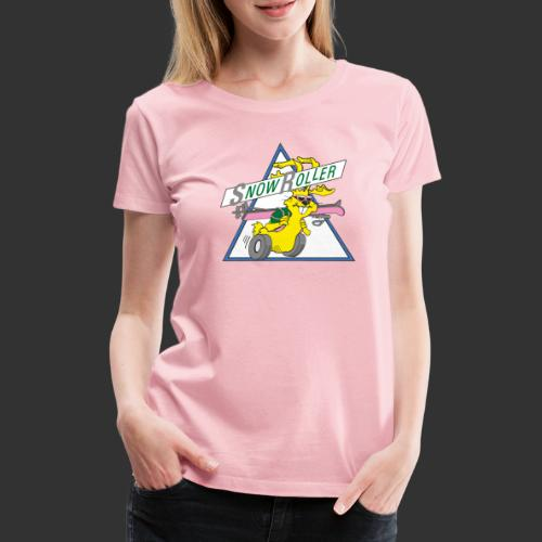 SnowRoller logo - Premium-T-shirt dam