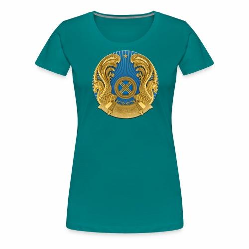 Kasachstan Казахстан Герб Wappen T-Shirts 2c - Frauen Premium T-Shirt