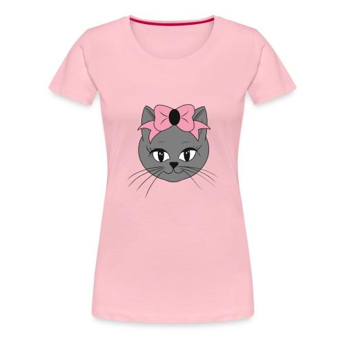 Meww Kitty Cat Hoodie - Premium T-skjorte for kvinner