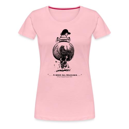Thelwell Cartoon Pony Galopp - Frauen Premium T-Shirt