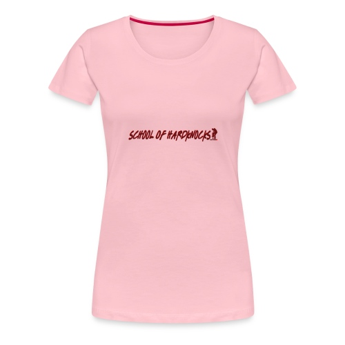 school of hardknocks ver 0 1 red - Dame premium T-shirt