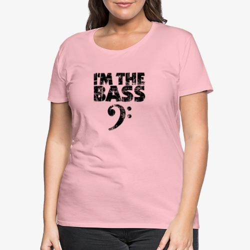 I'm the Bass (Vintage/Schwarz) Bassist Bassisten - Frauen Premium T-Shirt