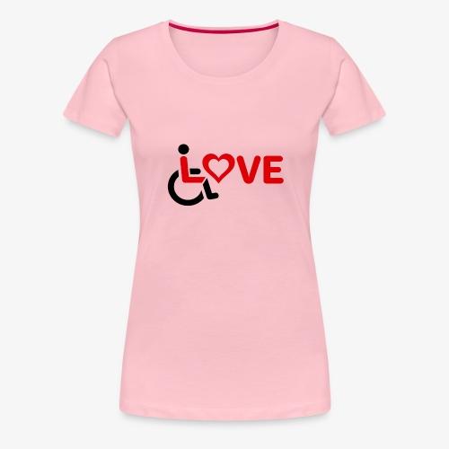 > Rolstoel liefde, rolstoelgebruiker, roller - Vrouwen Premium T-shirt
