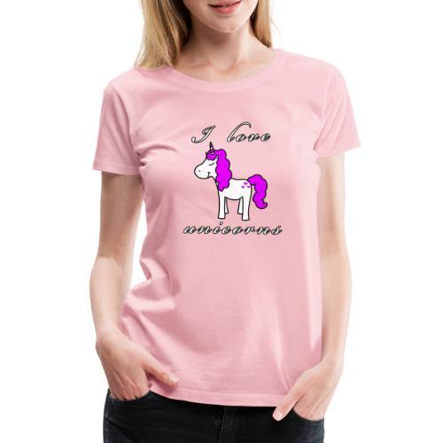 Einhorn schwarz - Frauen Premium T-Shirt