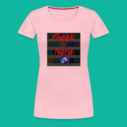 Geek n Nerd Logo jpg - Women's Premium T-Shirt