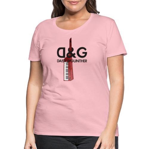 Met keytar-logo - Vrouwen Premium T-shirt