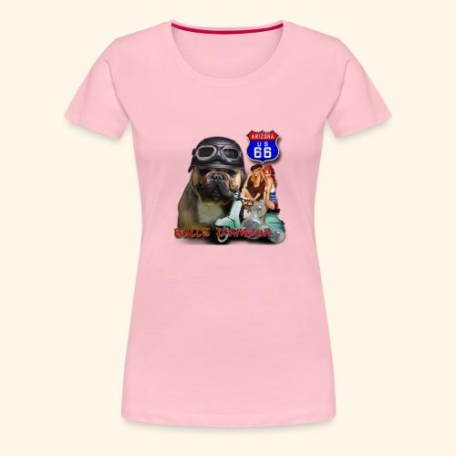 Bouledogue pinup - T-shirt Premium Femme